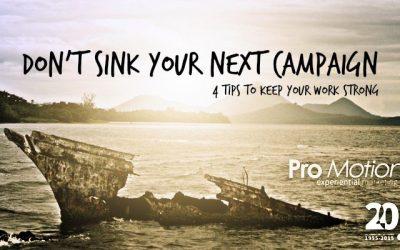 Don't Kill Your Campaign!
