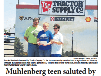TSC Tour Stop in Muhlenberg County Features Local Teen Brooke Benton