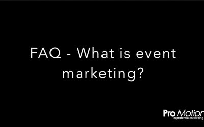 FAQ – What is event marketing?