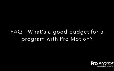 FAQ – What's a good budget for a program with Pro Motion?