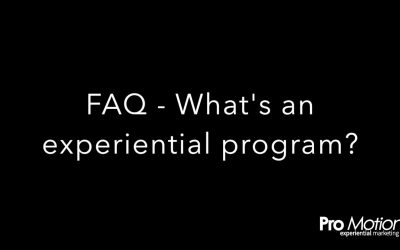 FAQ – What's a marketing program?