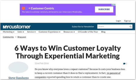 6 Ways to Win Customer Loyalty Through Experiential Marketing