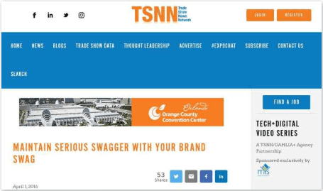 Maintain Serious Swagger with Your Brand Swag