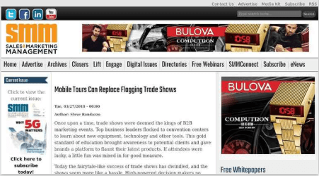 Mobile Tours Can Replace Flagging Trade Shows salesandmarketing.com