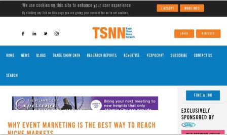 Why Event Marketing Is the Best Way to Reach Niche Markets TSNN Trade Show News